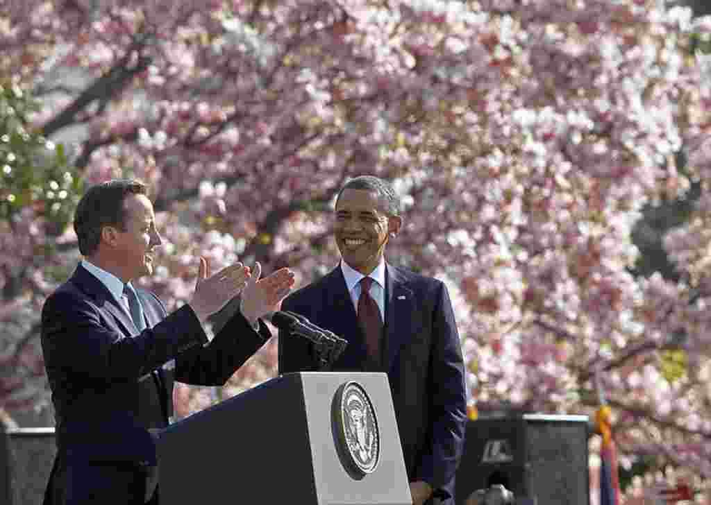 El presidente Obama y el primer ministro Cameron discutieron entre otros temas, la situación en Irán, Siria y Afganistán.