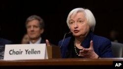 Chủ tịch Quỹ Dự trữ Liên bang Janet Yellen phát biểu tại Quốc hội hôm thứ Năm, 17/11/2016.