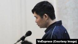 Bị cáo Nguyễn Mạnh Tường tại tòa.