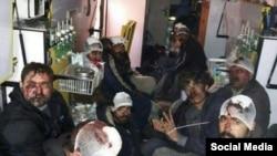 درویشان گنابادی کتک خورده و بازداشت شده در حوادث خیابان گلستان هفتم پاسداران تهران