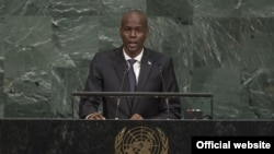 Jovenel Moise, president d'Haiti a l'ONU, le 21 septembre 2017.