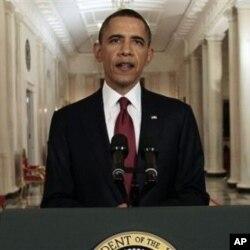 Le président Obama annonçant l'élimination de Ben Laden