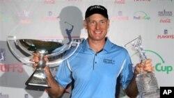 Golf: Furyk Overslept and Still Won $10 Million Jackpot
