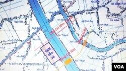 Sơ đồ dự án hệ thống cống đập chắn mặn trên Sông Cái Lớn- Sông Cái Bé, sẽ tác động trên 1/4 diện tích toàn ĐBSCL và ảnh hưởng tới đời sống hàng triệu cư dân trong vùng. [nguồn: Ánh Sáng và Cuộc Sống - Ngô Thế Vinh cung cấp]
