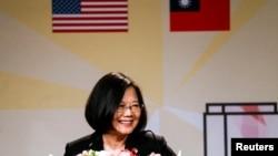 台湾总统蔡英文2018年8月12日在洛杉矶访问(路透社)