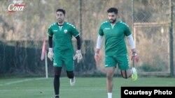 اویس عزیزی و حمید الله وکیلی دروازه بان های تیم ملی فوتبال افغانستان