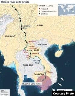 Một ĐBSCL đã và đang bị tổn thương do những nguyên nhân: (1) do các con đập thượng nguồn, (2) do nạo vét cát dưới lòng sông, (3) do nước biển dâng, (4) do ô nhiễm sông rạch, (5) còn phải kể tới những dự án sai lầm ngăn mặn phá huỷ sự cân bằng hệ sinh thái mong manh của vùng châu thổ sông Mekong. Tính tới 2020, đã có 11 con đập dòng chính khổng lồ của Trung Quốc trên khúc sông Lancang-Mekong thượng nguồn; có thêm 2 con đập dòng chính của Lào (Xayaburi và Don Sahong) đã hoạt động từ 2019. Dự án Luang Prabang 1460 MW, sẽ là con đập dòng chính lớn nhất trên sông Mekong của Lào và điều rất nghịch lý là do Việt Nam làm chủ đầu tư, dự trù có thể được khởi công sớm trong năm nay. [International River 2004, do Ngô Thế Vinh cập nhật 2020].