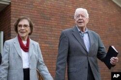 جیمی کارتر و همسرش روزالین