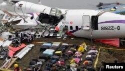 台湾复兴航空客机起飞后坠入基隆河