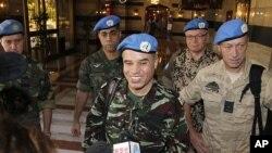 16일 시리아에 도착한 유엔 감시단.