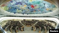 Toàn cảnh một phiên họp của Hội đồng Nhân quyền LHQ ở Geneve.