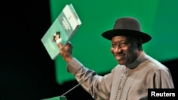 Goodluck Jonathan à Abuja (29 mai 2013)