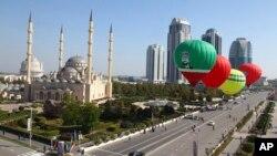 Vue générale de Grozny, la capitale de la République de Tchétchénie, au sein de la Fédération de Russie, le 5 octobre 2016.