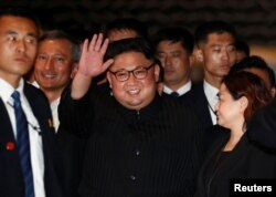 FILE - North Korea's leader Kim Jong Un visits The Marina Bay Sands hotel in Singapore, June 11, 2018.