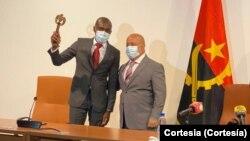 Nuno Mahapi Dala (esq) e Luís Nunes (dir), passagem de testemunho no Governo da Huíla, Angola