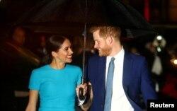 پرنس ہیری اور ان کی اہلیہ میگھن۔ فائل فوٹو