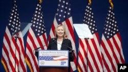 ລັດຖະມົນຕີການຕ່າງປະເທດສະຫະລັດ ທ່ານນາງ Hillary Clinton