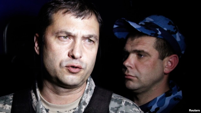 Separatist leader Valery Bolotov was detained at a checkpoint near Kharkiv, Ukraine, on May 17. He's shown in photo from May 7, 2014.