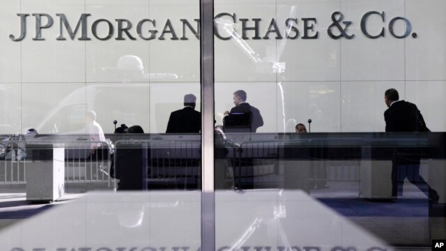 FILE - JPMorgan Chase headquarters in New York.