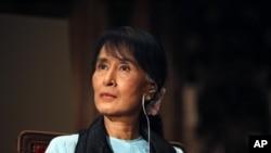 緬甸民主運動領袖昂山素姬六月28日圖片