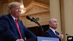 Трамп і Путін в Гельсінкі 16 липня 2018р.