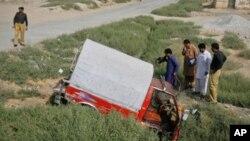 فائرنگ کا نشانہ بننے والی گاڑی