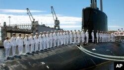 미 해군의 버지니아급 핵잠수함인 하와이함. (자료사진)