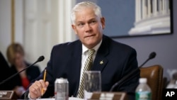 FILE - Within hours of the new Congress being gaveled into session, House Rules Committee Chairman Pete Sessions, R-Texas, moves forward with plans to advance legislation approving the embattled Keystone XL oil pipeline, at the Capitol in Washington, Jan. 7, 2015.