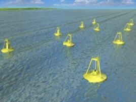Rendering of wave energy park