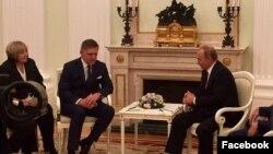 Під час зустрічі Володимира Путіна і Роберта Фіцо у Москві