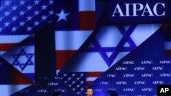 صدر اوباما واشنگٹن میں امریکن اسرائیل پبلک افیئرز کمیٹی کے کنوینشن سے خطاب کرتے ہوئے