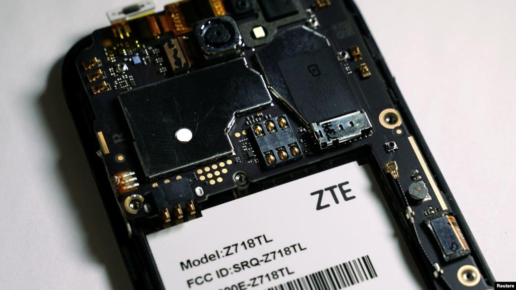 中國中興公司製造的智能手機依賴美國的芯片及軟件