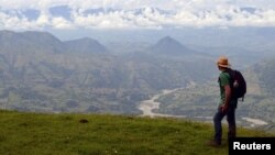 A panoramic view of the Cauca River canyon in northern Colombia, is seen in this undated handout picture courtesy of Carlos Armando Rosero.