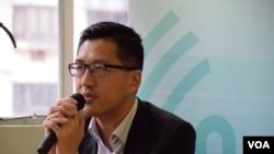 香港民主党总干事林卓廷 (美国之音汤惠芸摄)