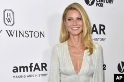 Gwyneth Paltrow arrives at the amfAR Inspiration Gala at Milk Studios on Oct. 29, 2015, in Los Angeles.
