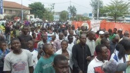 Manifestations à Goma, le 28 nov. 2012