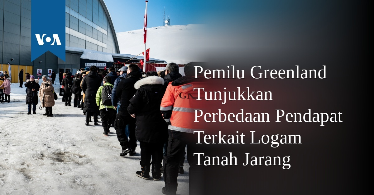 Pemilu Greenland Tunjukkan Perpecahan Terkait Logam Tanah Jarang