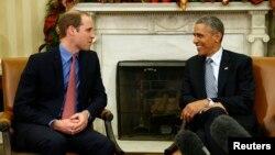 El presidente Obama recibe al príncipe Williams en el salón oval de la Casa Blanca y discuten el tema de tráfico ilegal de marfil y animales salvajes.