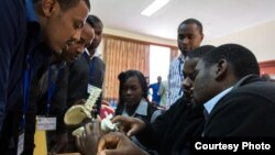 FILE: Surgical trainees on a COSECSA spine surgery course in Kenya in April 2014. Trainees were from Ethiopia, Kenya, Tanzania, Zimbabwe, Zambia, Malawi, Uganda and Rwanda, and it was the first such regional course to take place.