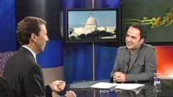 "State Dept Farsi language spokesman Alan Eyre appearing on VOA's ""Parazit"" with host Kambiz Hosseini."