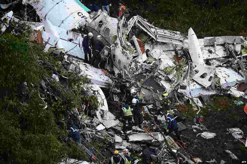 برازیل کی ایک فٹبال ٹیم کو کولمبیا لے جانے والے خصوصی طیارے کے حادثے میں حکام نے 71 ہلاکتوں کی تصدیق کی ہے۔