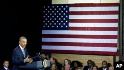 Predsednik Obama govori na skupu u Čarlstonu u Zapadnoj Virdžiniji.