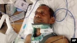 Ông Sureshbhai Patel được chữa trị tại Bệnh viện Huntsville ở Huntsville, Alabama, 7/2/15