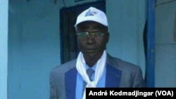Dinamo Daram, président du parti socialiste sans frontières, à N'Djamena, Tchad, 8 décembre. (VOA/André Kodmadjingar)