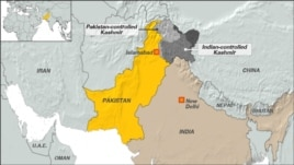 Jammu and Kashmir, areas of control for India and Paksitan