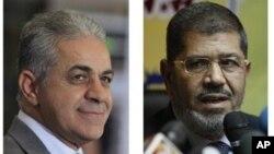 Foto dua capres Mesir dalam Pemilu 2012 : Hamdeen Sabahi (kiri) dan Mohammed Morsi (Foto: dok).
