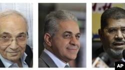 Ahmed Šafik, Hamdin Sabahi i Mohamed Morsi