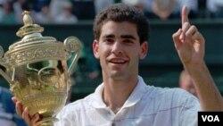 Pete Sampras también perdió uno de sus 14 trofeos del Grand Slam. Los trece restantes se encuentran a salvo en su casa.