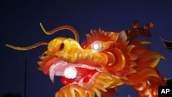 A dragon lantern is seen at Yuyuan Garden in downtown Shanghai January 17, 2012.
