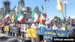 تظاهرات برگزار شده حامیان سازمان مجاهدین در کانادا